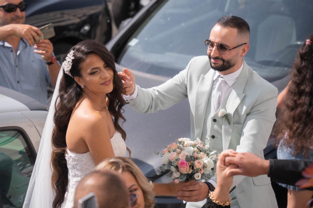 Photo de mariage à la Roseraie