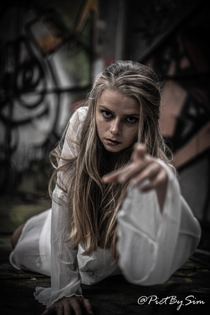Photo de Mélina zombie pour Halloween