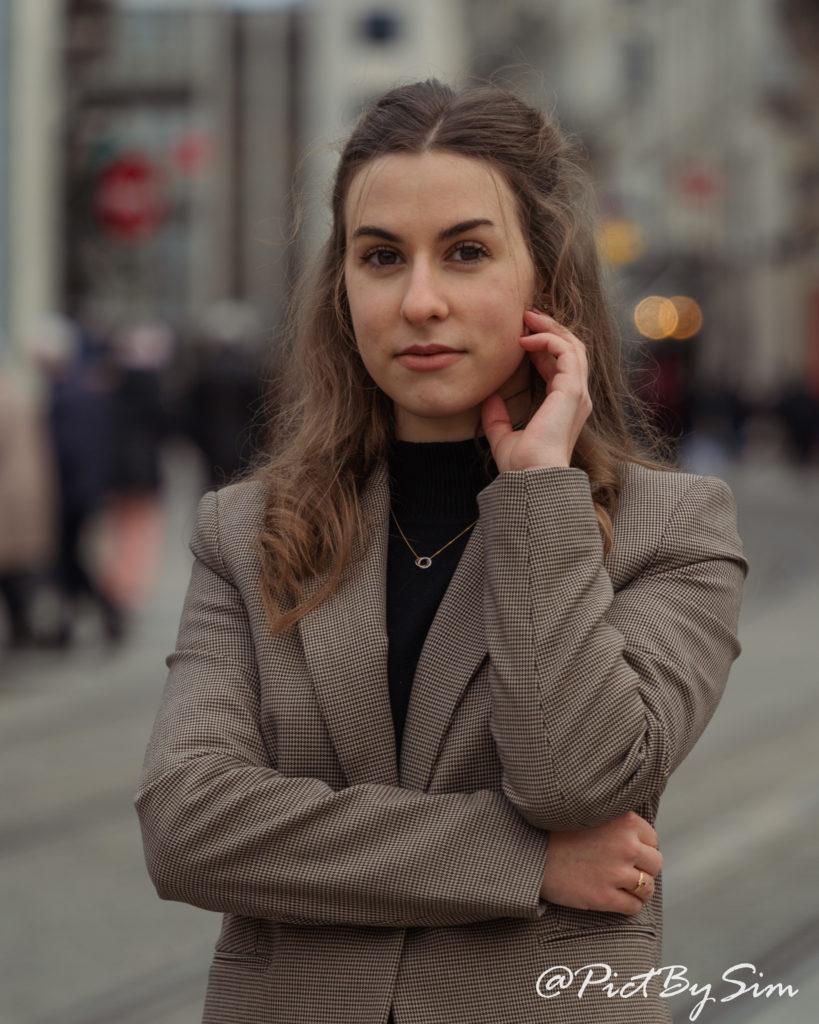 Portrait féminin à Angers avec Diane