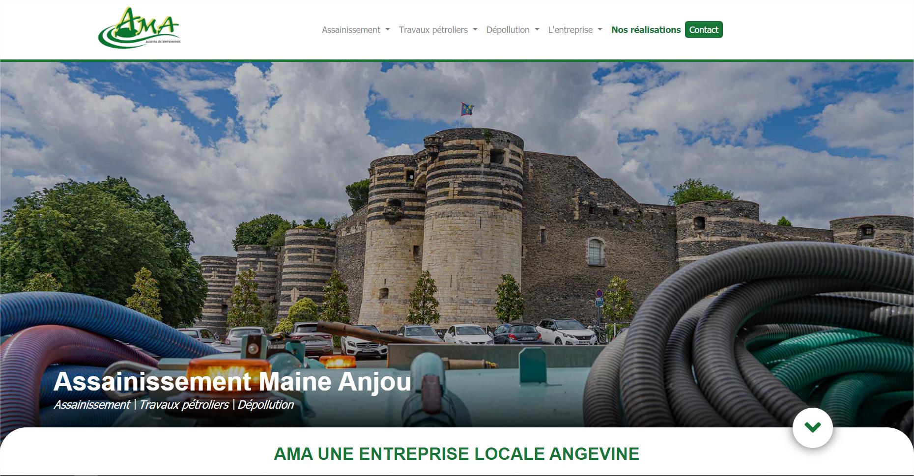 Capture d'écran d'un site réalisé par PictBySim